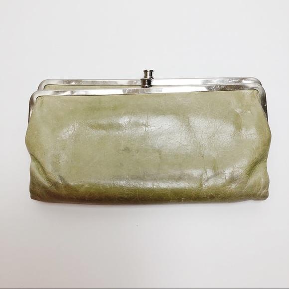 Hobo Bags Green Lauren Double Frame Clutch Wallet Poshmark